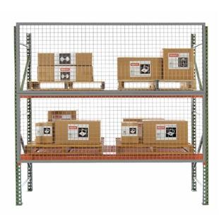 Wire Mesh Rack Guard For Pallet Racks Aisle Shield