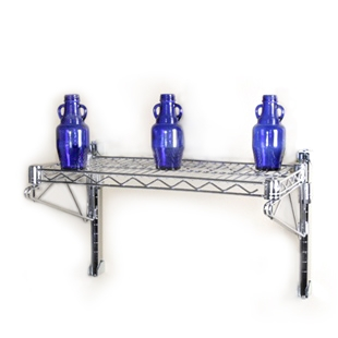 Wall Mounted Wire Shelves Amp Industrial Wall Shelving