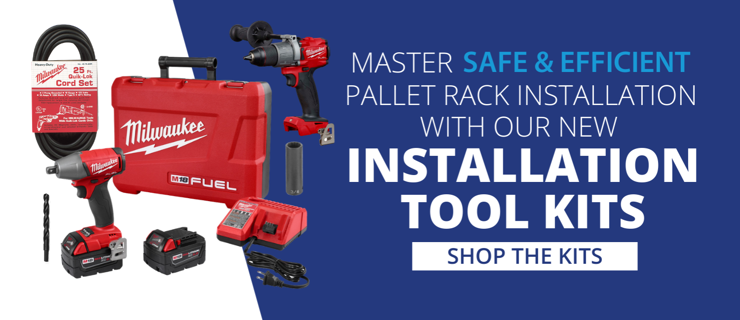 Shop our new pallet rack installation kits.