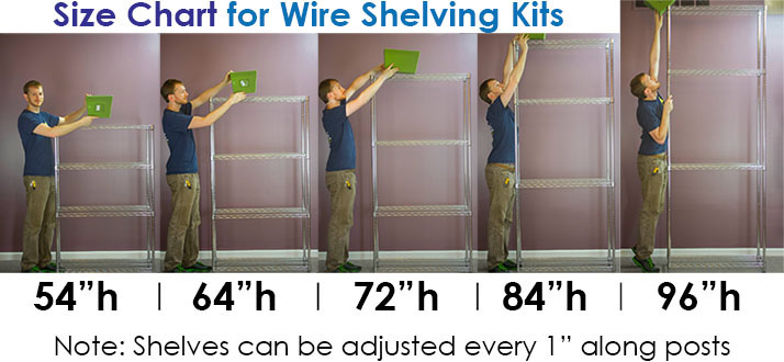 Wire Shelving Size Guide | Shelving.com on