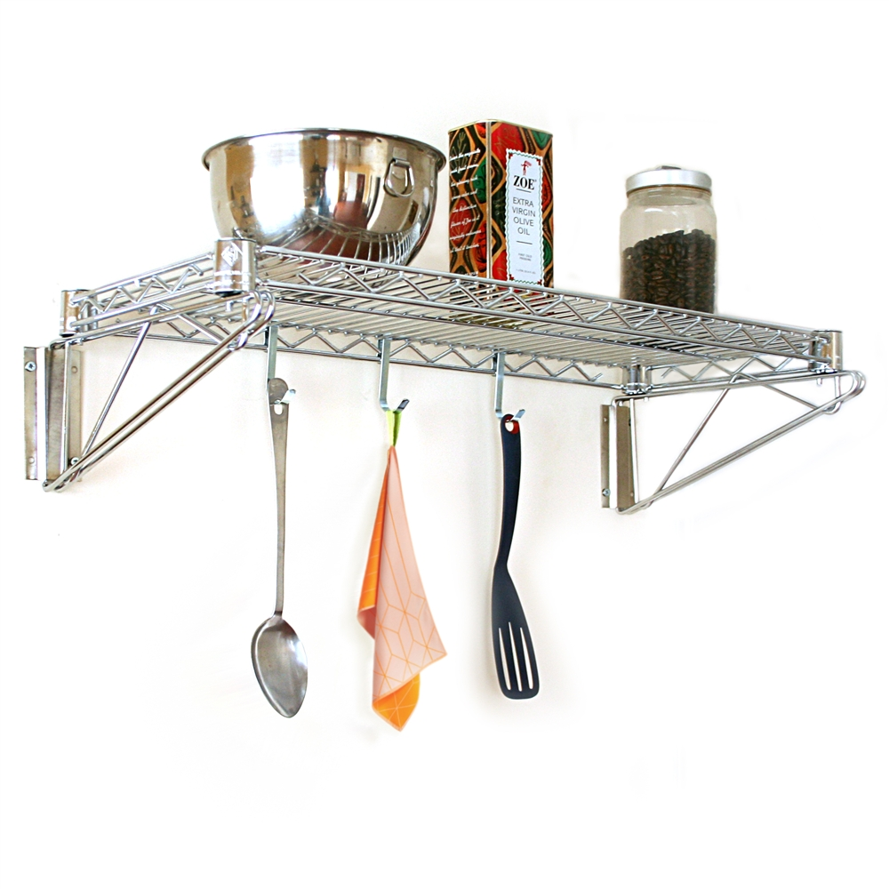 Chrome Wall Mounted Shelving Shelving Com