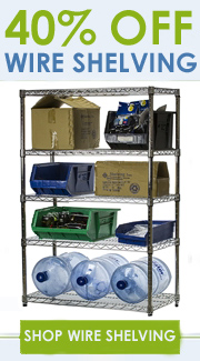 40% Off Wire Shelving