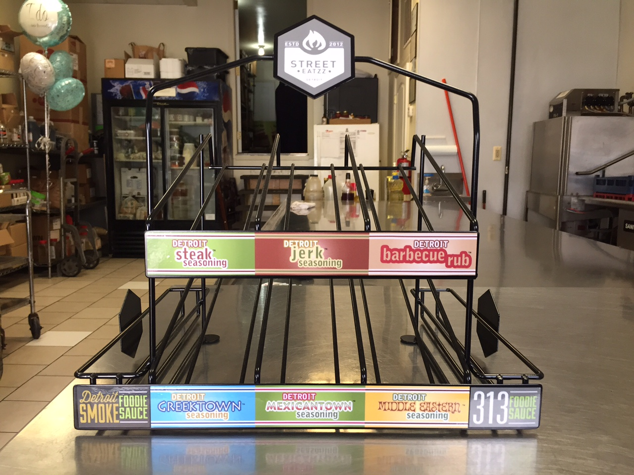 Custom POP Rack for Street Eatzz