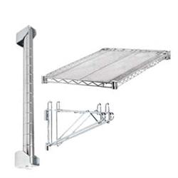 12 d adjustable wall mounted wire shelf add on kit. Black Bedroom Furniture Sets. Home Design Ideas