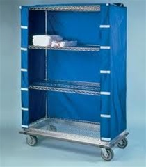 24 Quot D Wire Shelving Cart Covers Blue Nylon Custom Nexel