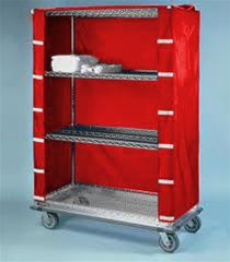Red Nylon Cart Covers For Wire Shelving Water Resistant