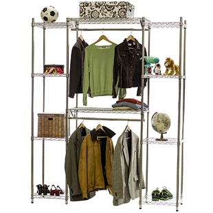 Wire Closet Shelving System W Double Hang Storage 18 Quot D X