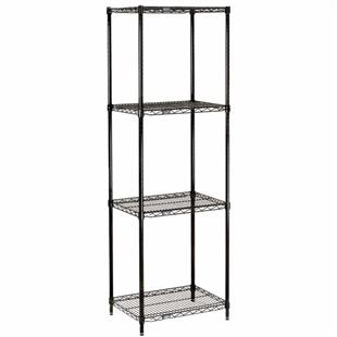 Black Wire Shelving 18 Quot D With 4 Shelves Nexel