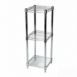 8 Quot Depth Wire Shelving Unit With 3 Shelves Shelving Inc