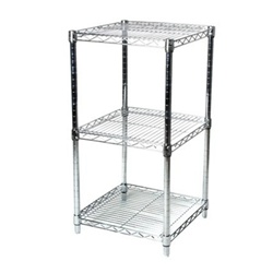 24 Quot D Wire Shelving Racks W 3 Shelves Shelving Com