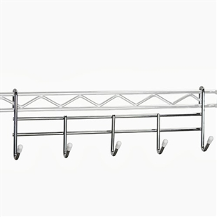 coat rack for wire shelving