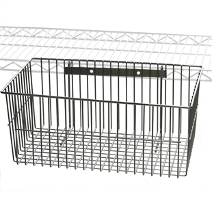 wire utility basket accessories for wire shelving 12 d x. Black Bedroom Furniture Sets. Home Design Ideas