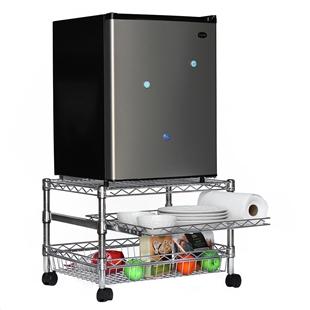 Mini Fridge Cart For Dorms Shelving Com