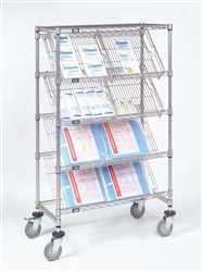 Slanted Wire Shelving Units Five Tier Merchandiser Nexel