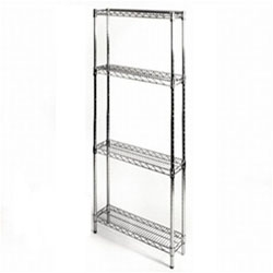8 d x 24 w wire shelving with 4 shelves from shelving inc rh shelving com 8 inch shelving unit 8 inch shelf metal brackets
