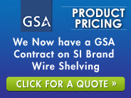 We Now Have A GSA Contract On SI Brand Wire Shelving